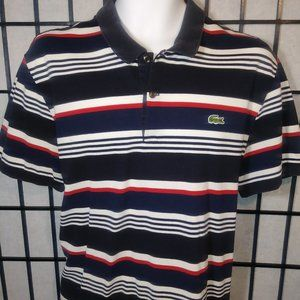 Lacoste Live Striped Polo Shirt Size 8 (med)